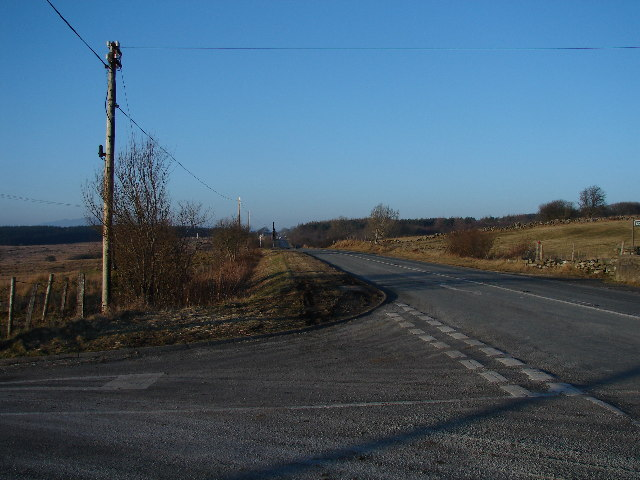 Road Junction A470 & Lane to Graigddu-isaf Forestry