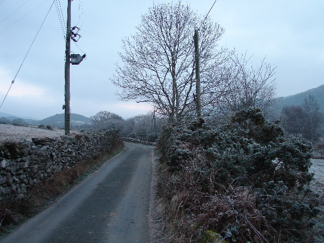 Lane at Pen-y-bont on the way to Cwm Bychan