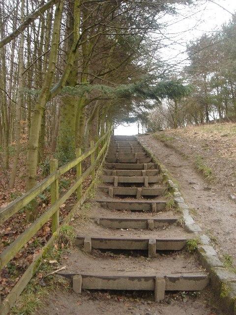 Path beside the Jumbles reservoir dam.