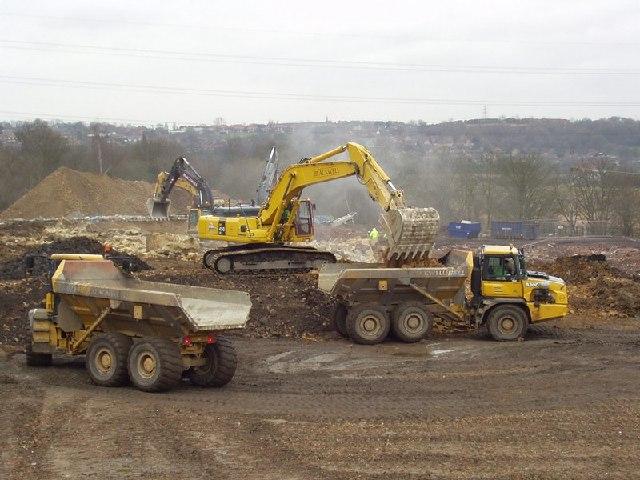 Demolition of Newlay Dye Works