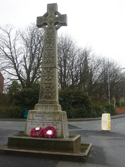 War Memorial and Christ Church, Walshaw