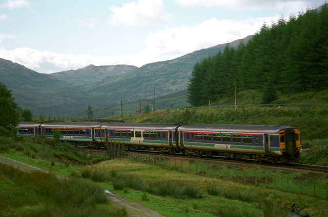 Train north of Tyndrum
