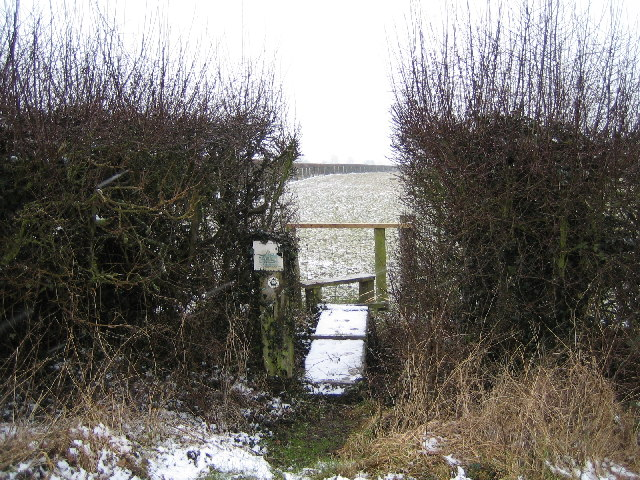 A slippery stile on the Macmillan Way