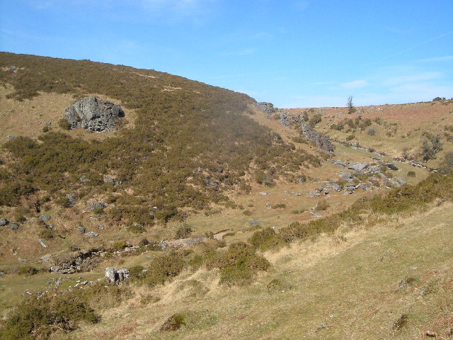 Lyd valley below Brat Tor, Dartmoor