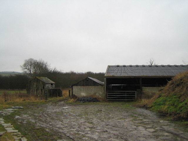 Barn and midden