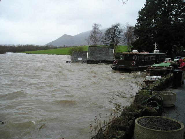 Derwent Water landing stage.