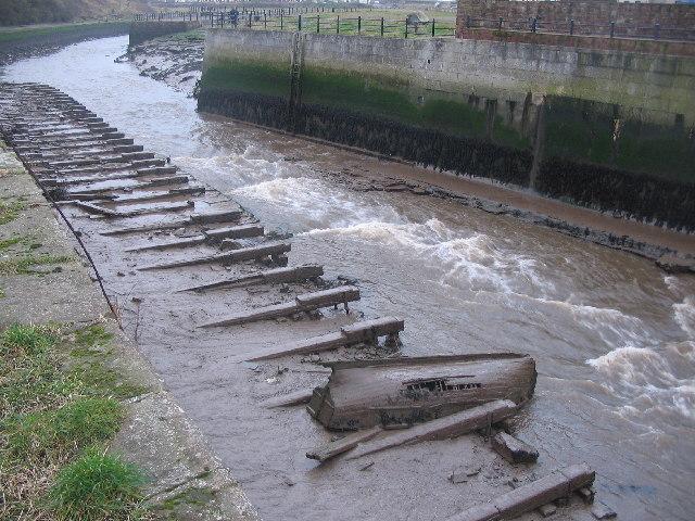 Low water on the River Ellen