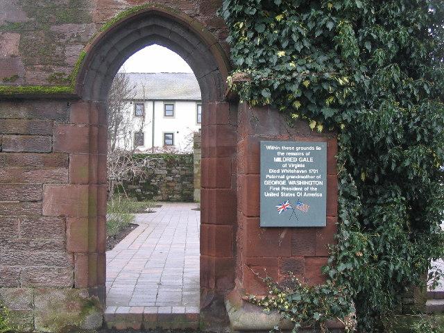 Doorway into St. Nicholas Tower Chapel gardens