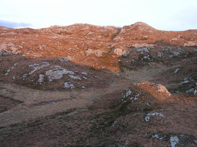 View towards Mullach na Creige Deirge