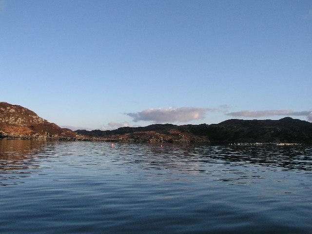 Fish farming in Calbha Bay