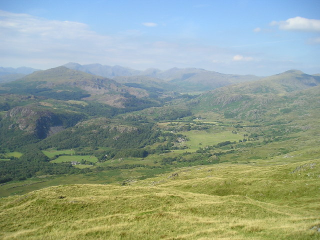 Dunnerdale from the summit of Caw