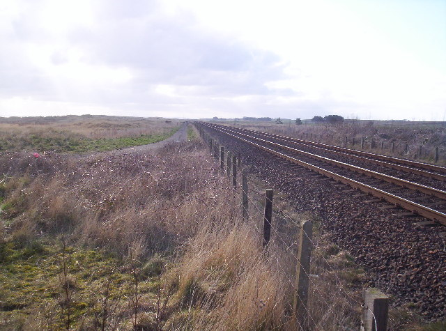 Old Road and East Coast Railway Line