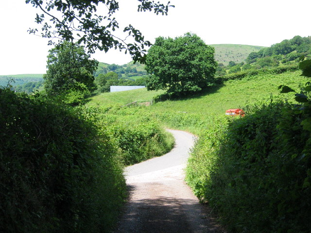 Country road near Pont Rhys Powell