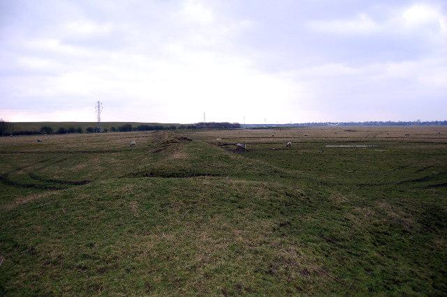Earth works on Clifton Marsh
