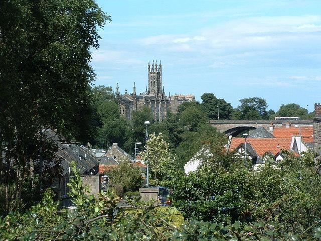 Dean Bridge and church