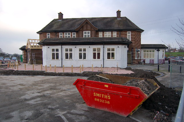 The Newton Arms undergoing a refurbishment