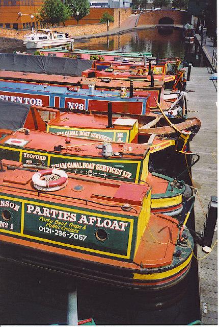 Gas Street Basin Narrowboats.