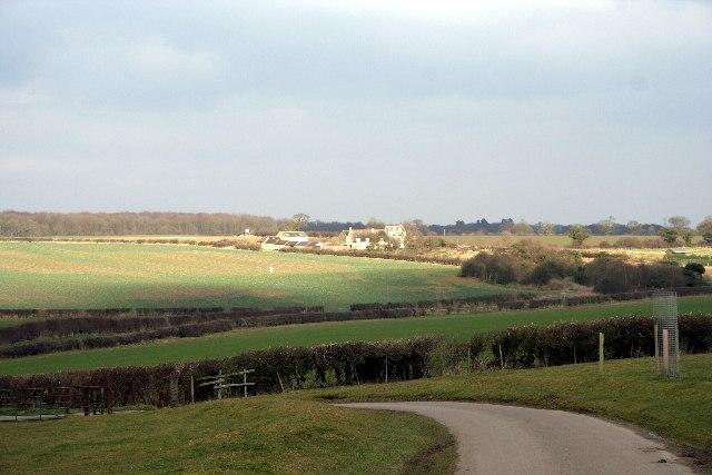 Lodge Farm and fields