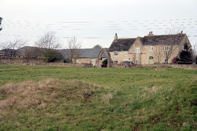 Remains of Pickworth old church and Manor House