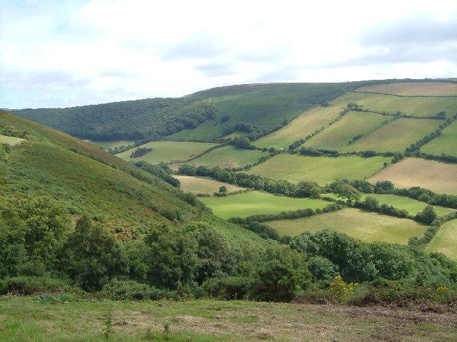 East Lyn valley near Leeford