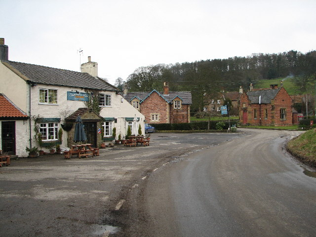 The Carpenters Arms and village hall in Felixkirk