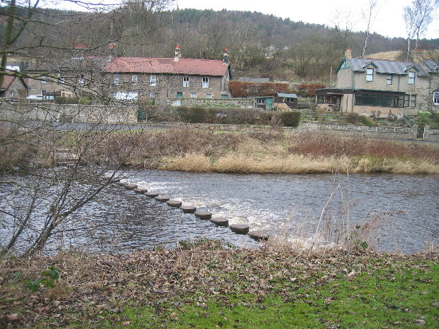 Stepping Stones over River Coquet