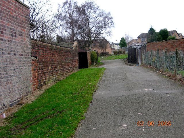 Alley behind Billam Street in Eckington.