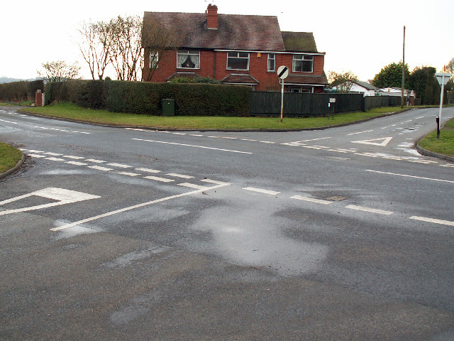 Road junction, Upper Marlbrook