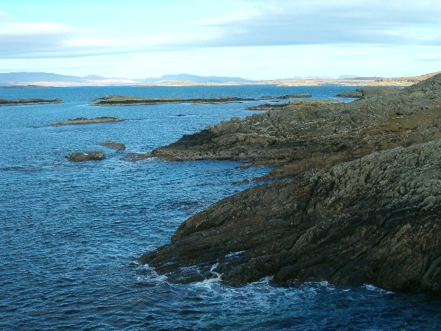 Rocky coastline, looking north towards Jura