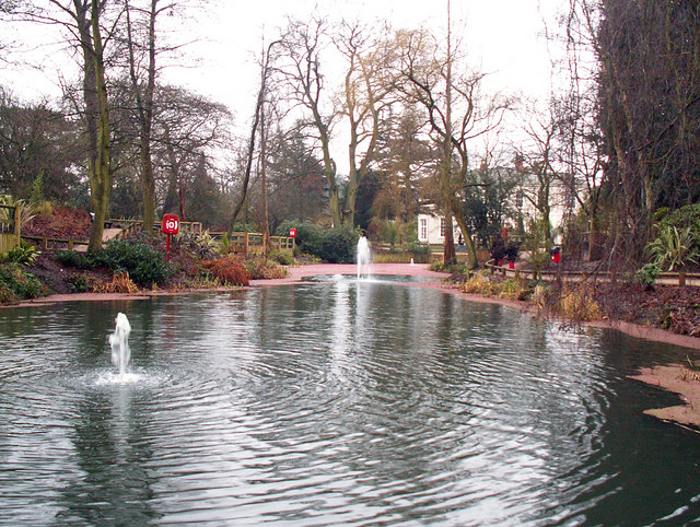 Ornamental pond in King's Heath Park