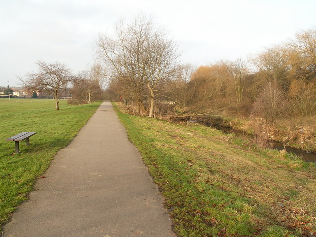 Cycle path along the River Rea