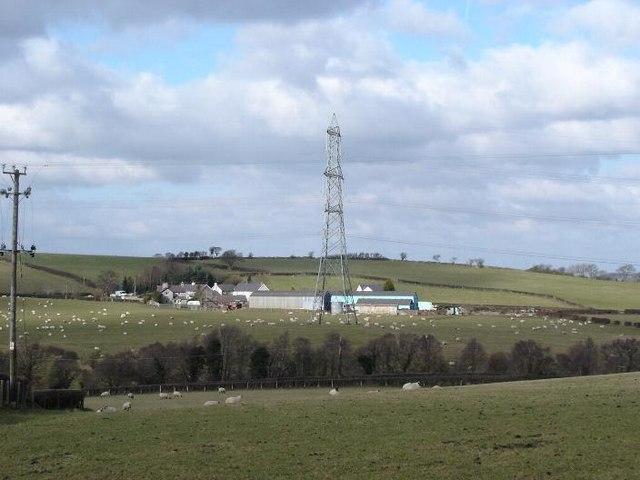 Farmland near Mynydd Bodrochwyn