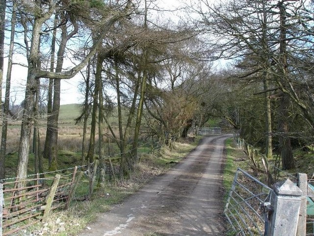 Farm entrance near Llansannan