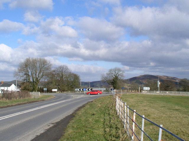 Roundabout at Dafarn Dywyrch