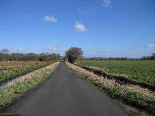 Road across Queen's Sedge Moor