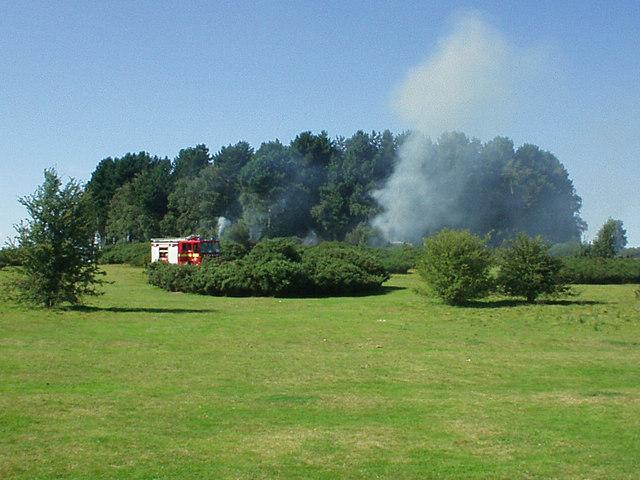 Heathland fire in Sutton Park
