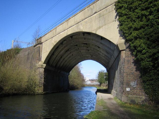 Grand Union Canal: West Coast Main Line railway bridge