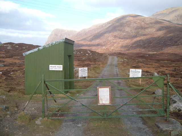 Entrance to track to Loch Bhoisimid