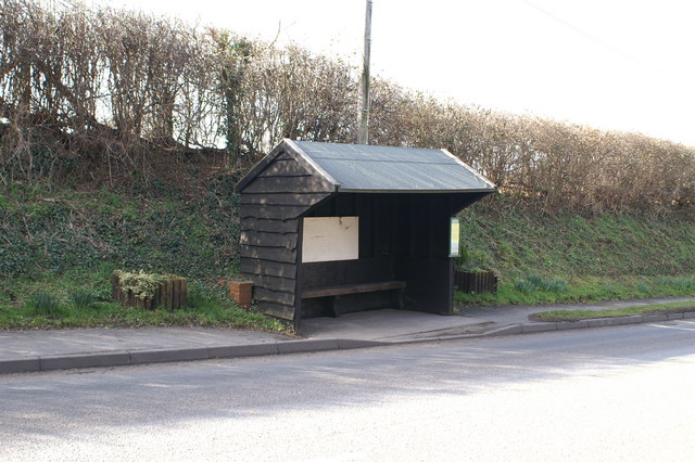 Bus Shelter At Clapton in Gordano