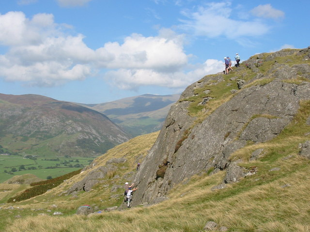Climbers on Col Crag