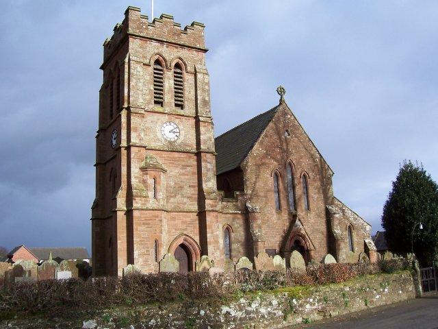 The church at Irthington.