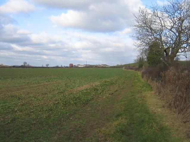 View towards Hunt Hall Farm