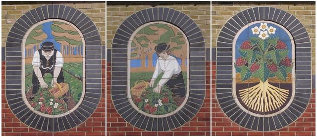 Ceramic murals at Strawberry Fields, Shirley