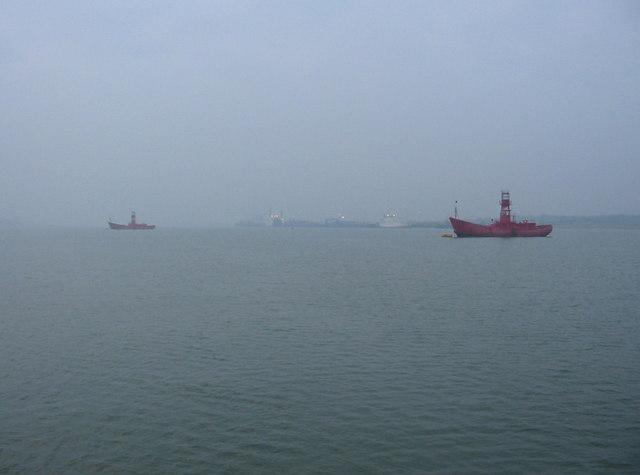 Lightships off Erwarton Ness