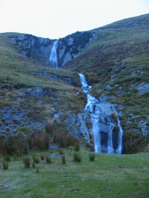 Waterfall above Nant-Ystalwyn