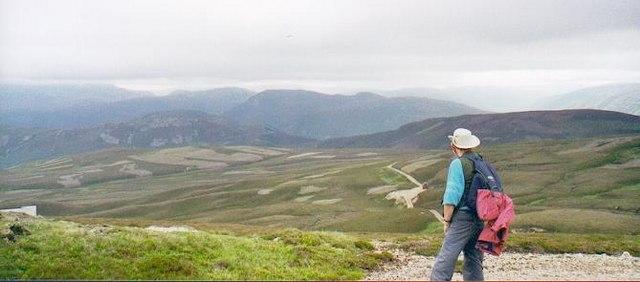 On the slopes of Culardoch at 730m