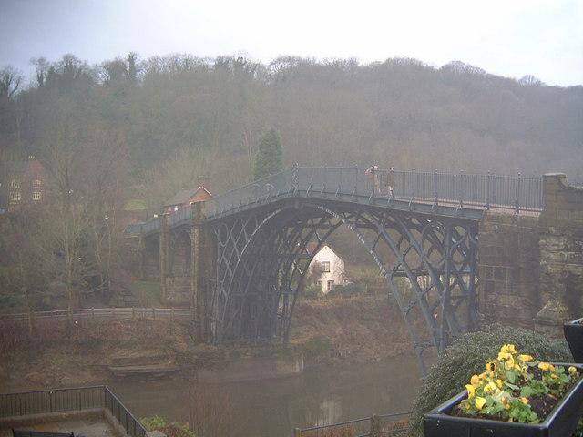 Ironbridge on a rainy day