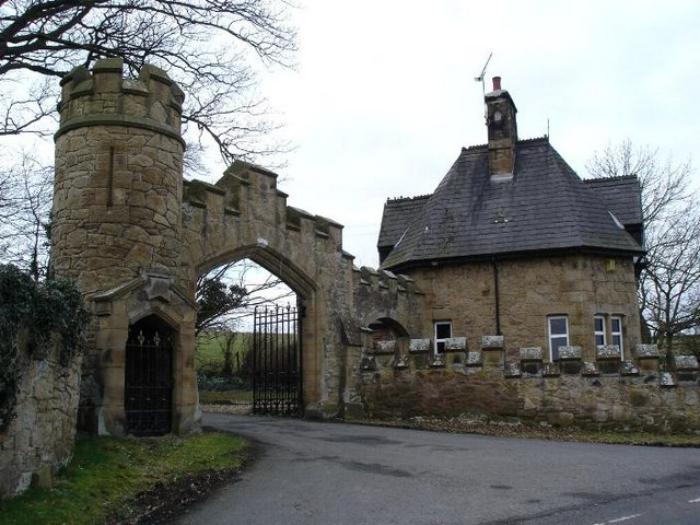 Gyrn Castle gatehouse