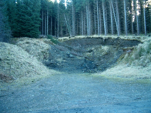 Small quarry used for forestry roads