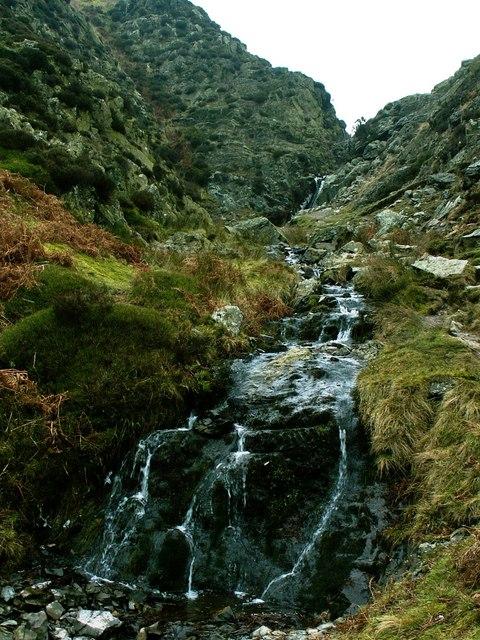 Towards Light Spout Waterfall